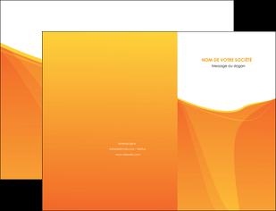 exemple pochette a rabat orange fond orange jaune MLGI67384