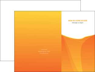 imprimerie pochette a rabat orange fond orange jaune MLGI67386
