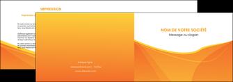 modele depliant 2 volets  4 pages  orange fond orange jaune MLGI67390