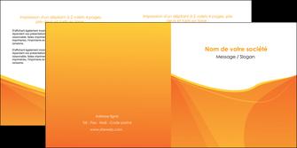 imprimer depliant 2 volets  4 pages  orange fond orange jaune MLGI67402