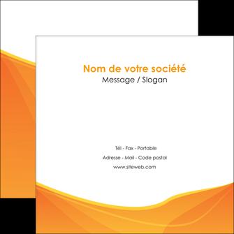 faire modele a imprimer flyers orange fond orange jaune MLGI67404
