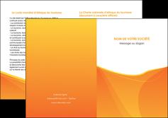 personnaliser modele de depliant 2 volets  4 pages  orange fond orange jaune MLGI67412