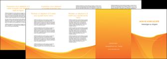 faire modele a imprimer depliant 4 volets  8 pages  orange fond orange jaune MLGI67416