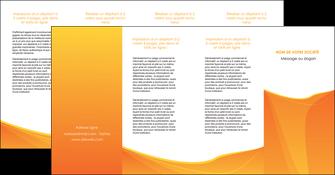 creer modele en ligne depliant 4 volets  8 pages  orange fond orange jaune MLGI67420