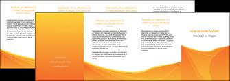 creation graphique en ligne depliant 4 volets  8 pages  orange fond orange jaune MLGI67422