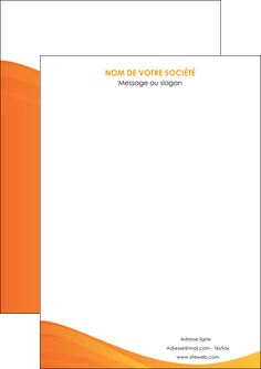 modele en ligne flyers orange fond orange couleur MLGI67842