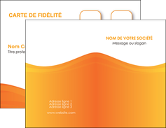 exemple carte de visite orange fond orange couleur MLGI67850
