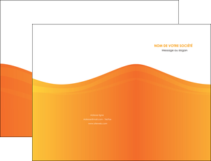 modele pochette a rabat orange fond orange couleur MLGI67852