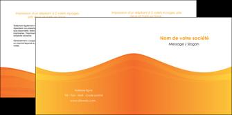 cree depliant 2 volets  4 pages  orange fond orange couleur MLGI67870