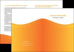 imprimer depliant 2 volets  4 pages  orange fond orange couleur MLGI67880