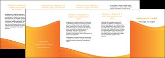 modele depliant 4 volets  8 pages  orange fond orange couleur MLGI67890