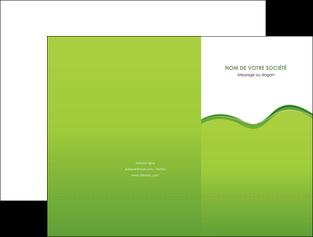 imprimerie pochette a rabat espaces verts vert vert pastel couleur pastel MLGI68028