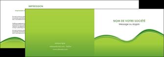 maquette en ligne a personnaliser depliant 2 volets  4 pages  espaces verts vert vert pastel couleur pastel MLGI68032