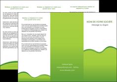 exemple depliant 3 volets  6 pages  espaces verts vert vert pastel couleur pastel MLGI68040