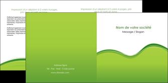 maquette en ligne a personnaliser depliant 2 volets  4 pages  espaces verts vert vert pastel couleur pastel MLGI68044