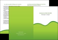 modele depliant 2 volets  4 pages  espaces verts vert vert pastel couleur pastel MLGI68054