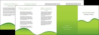 personnaliser modele de depliant 4 volets  8 pages  espaces verts vert vert pastel couleur pastel MLGI68058
