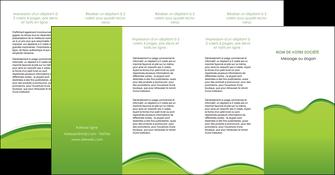 faire modele a imprimer depliant 4 volets  8 pages  espaces verts vert vert pastel couleur pastel MLGI68062