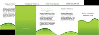 exemple depliant 4 volets  8 pages  espaces verts vert vert pastel couleur pastel MLGI68064
