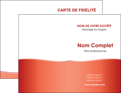creation graphique en ligne carte de visite rouge couleurs chaudes fond  colore MLIG68346