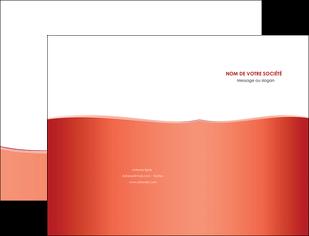 creation graphique en ligne pochette a rabat rouge couleurs chaudes fond  colore MLIG68348