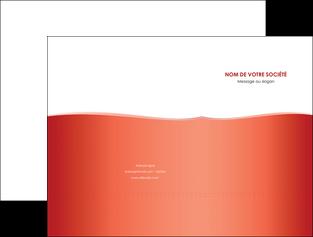 realiser pochette a rabat rouge couleurs chaudes fond  colore MLIG68350