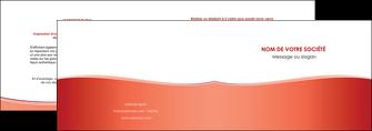 imprimerie depliant 2 volets  4 pages  rouge couleurs chaudes fond  colore MLIG68352