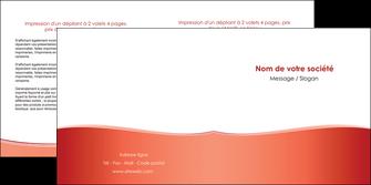 imprimerie depliant 2 volets  4 pages  rouge couleurs chaudes fond  colore MLIG68366