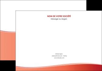 personnaliser modele de flyers rouge couleurs chaudes fond  colore MLIG68370