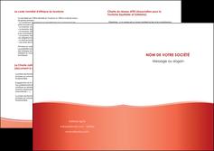 imprimerie depliant 2 volets  4 pages  rouge couleurs chaudes fond  colore MLIG68376