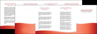 personnaliser maquette depliant 4 volets  8 pages  rouge couleurs chaudes fond  colore MLGI68378