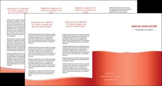 cree depliant 4 volets  8 pages  rouge couleurs chaudes fond  colore MLGI68382