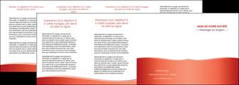 realiser depliant 4 volets  8 pages  rouge couleurs chaudes fond  colore MLIG68384