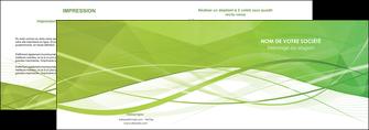 modele en ligne depliant 2 volets  4 pages  espaces verts vert vert pastel couleur pastel MLGI68570