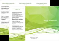 realiser depliant 3 volets  6 pages  espaces verts vert vert pastel couleur pastel MLGI68578