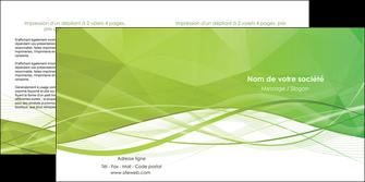 creer modele en ligne depliant 2 volets  4 pages  espaces verts vert vert pastel couleur pastel MLGI68582