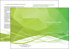 faire modele a imprimer depliant 2 volets  4 pages  espaces verts vert vert pastel couleur pastel MLGI68592