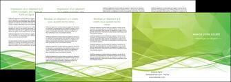 creer modele en ligne depliant 4 volets  8 pages  espaces verts vert vert pastel couleur pastel MLGI68596