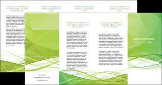 creer modele en ligne depliant 4 volets  8 pages  espaces verts vert vert pastel couleur pastel MLGI68600