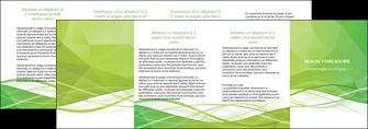creer modele en ligne depliant 4 volets  8 pages  espaces verts vert vert pastel couleur pastel MLGI68602