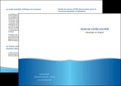 maquette en ligne a personnaliser depliant 2 volets  4 pages  bleu bleu pastel fond pastel MLGI68620