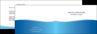 maquette en ligne a personnaliser depliant 2 volets  4 pages  bleu bleu pastel fond pastel MLGI68630