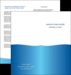 creer modele en ligne depliant 2 volets  4 pages  bleu bleu pastel fond pastel MLIG68642
