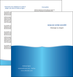 creer modele en ligne depliant 2 volets  4 pages  bleu bleu pastel fond pastel MLGI68642