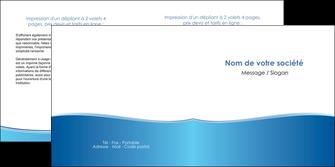 creer modele en ligne depliant 2 volets  4 pages  bleu bleu pastel fond pastel MLGI68644