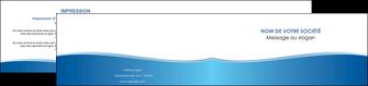 creation graphique en ligne depliant 2 volets  4 pages  bleu bleu pastel fond pastel MLGI68650