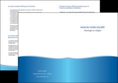 cree depliant 2 volets  4 pages  bleu bleu pastel fond pastel MLGI68654