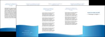 maquette en ligne a personnaliser depliant 4 volets  8 pages  bleu bleu pastel fond pastel MLGI68656