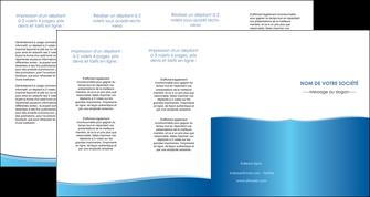 faire depliant 4 volets  8 pages  bleu bleu pastel fond pastel MLGI68660