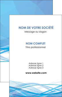imprimerie carte de visite bleu bleu pastel fond bleu pastel MLGI68936